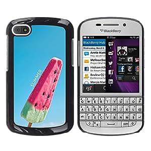 Jordan Colourful Shop - FOR BlackBerry Q10 - the submission to love - Personalizado negro cubierta de la caja de pl??stico