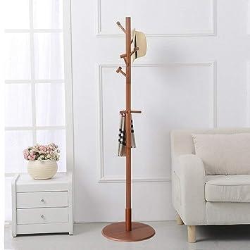 ACZZ Perchero en forma de árbol de madera de pino de pie Tao ...