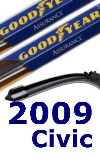 2009 Honda Civic Replacement Windshield Wiper (2 Blades)