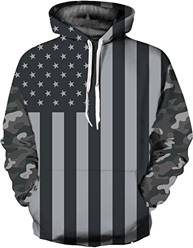 SAINDERMIRA Unisex Fashion 3D Digital Galaxy Pullover Hoodie Hooded Sweatshirt Athletic Casual with Pockets(Camouflage, L/XL)