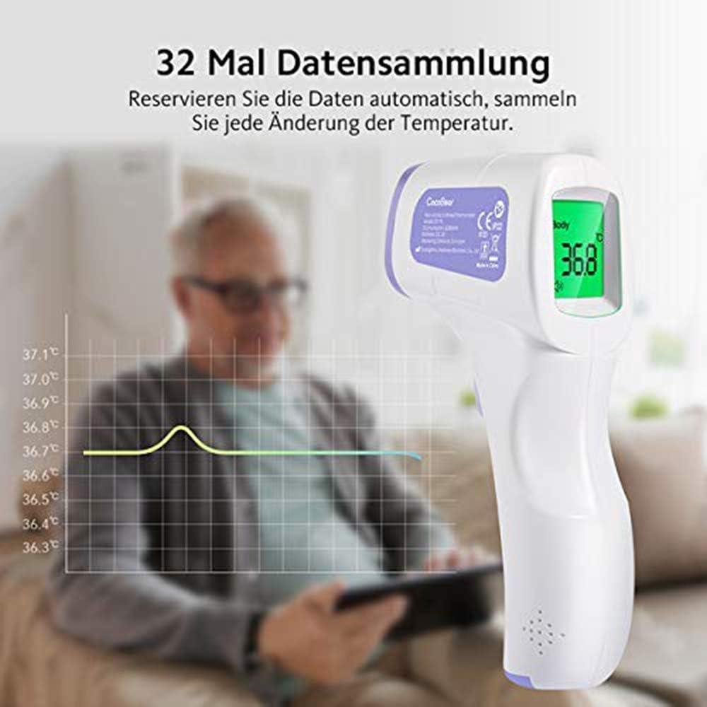Forart Stirnthermometer Digitales Infrarot-Thermometer Digitales Infrarot-Fieberthermometer Basalthermometer f/ür Erwachsene und Kinder