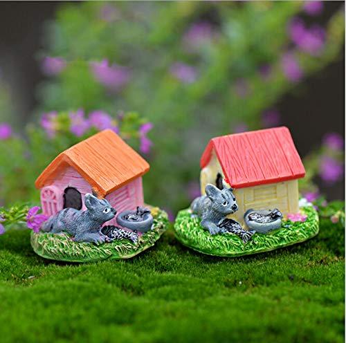 STORE-DECORATIVE - Animal House Figures Miniature Figurine for mini fairy garden Aquarium fish tank animal statue resin craft TNB047 by STORE★DECORATIVE★ (Image #6)