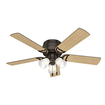 Hunter 53386 prim hunter 52 ceiling fan with light large premier hunter 53386 prim hunter 52quot ceiling fan with light large premier bronze mozeypictures Image collections