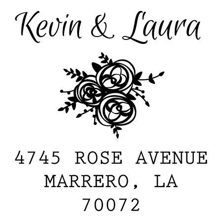 (Re:Marks Address Stamp (Rose Cluster))