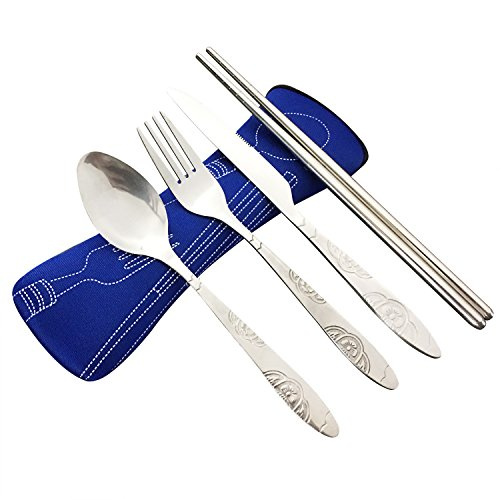 stainless chopsticks camping cutlery neoprene product image