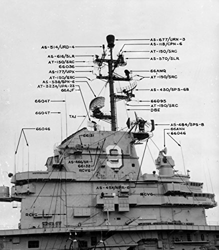 Home Comforts Laminated Poster The Radar Arrangement Aboard The U.S. Navy Aircraft Carrier USS Essex (CVA-9) Following her SCB-125 Vivid Imagery Poster Print 24 x 36