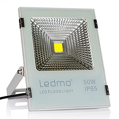 LEDMO LED Flood Lights,Waterproof IP65 for outdoor,Daylight White,6000K Black