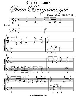 photos officielles 88e0b 8e578 Clair de Lune Suire Bergamasque Beginner Piano Sheet Music ...
