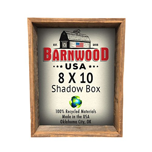 BarnwoodUSA-Rustic-Farmhouse-Collectible-Shadow-Box-Picture-Frame-Made-of-100-Reclaimed-and-Recycled-Wood-Shadow-Box-Style-to-Display-Collectibles-Photos-Antiques-Made-in-USA-8×10