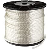 CWC Solid Braid Nylon Rope, White (5/16'' x 1000')