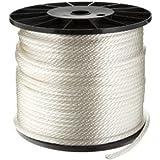 CWC Solid Braid Nylon Rope, White (1/2'' x 250')