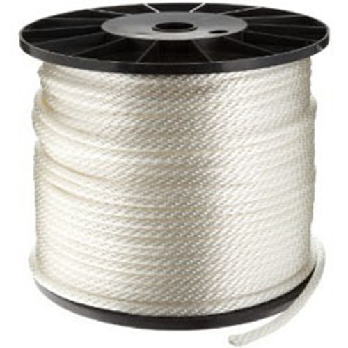 CWC Solid Braid Nylon Rope, White (5/16'' x 1000') by Continental Western Corporation