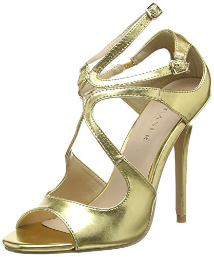 outlet collections discount 100% authentic Pleaser Women's Amuse 15 Open-Toe Heels Gold (Gold Met Pu) outlet discount low price online NaQWBTzRDr