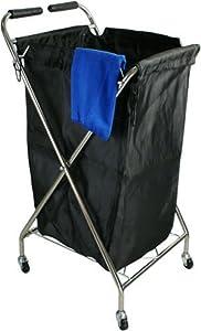 Folding Hairdressing Trolley Towel Basket Laundry Cart Storage Bag For Barber Shop Beauty Salon SPA Storage Cart Portable Mobile Rolling