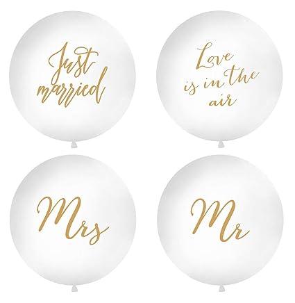 2 Stück XXL Luftballons /'Mr /& Mrs/' 100 cm Hochzeit Hochzeitsdeko Vintage Fotos