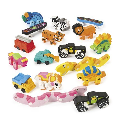 Novelty Eraser Assortment (6 dz) by Fun Express by Fun Express