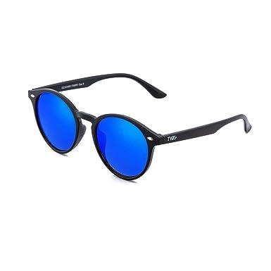 Gafas de sol TWIG POLLOCK redondo espejo hombre/mujer (Negro ...