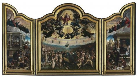 Mercury Costume Roman God (The Perfect Effect Canvas Of Oil Painting 'Bernard Van Orley - Last Judgement And The Seven Acts Of Mercy,1524' ,size: 18x32 Inch / 46x81 Cm ,this High Definition Art Decorative Canvas Prints Is Fit For Gym Gallery Art And Home Artwork And Gifts)