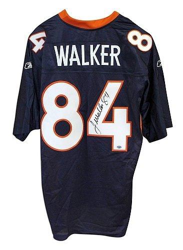 Jersey Autographed Reebok Blue Authentic (Javon Walker Denver Broncos Autographed Blue Reebok Jersey - Certified Authentic Signature)