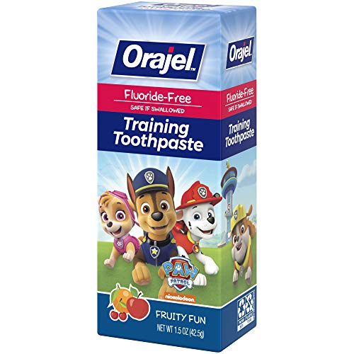 51%2B4D9CUlSL - Orajel Paw Patrol Fluoride-Free Training Toothpaste, Fruity Fun Flavor, One 1.5oz Tube: Orajel #1 Pediatrician Recommended Brand For Kids Non-Fluoride Toothpaste