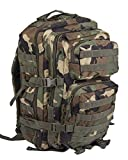Mil-Tec Military Army Patrol Molle Assault Pack Tactical Combat Rucksack Backpack Bag 36L Woodland Camo For Sale
