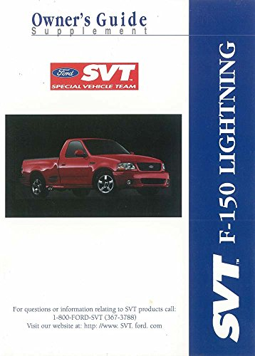 bishko automotive literature 2000 Ford Truck F-150 SVT Lightning Owners Manual Supplement User Guide Operator