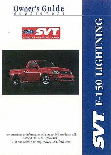 2000 Ford Truck F-150 SVT Lightning Owners Manual Supplement User Guide Operator (Lightning Truck Svt)
