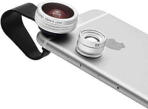 Apexel – Kit de lentes para Smartphone 2 en 1. Lente Ojo de pez de 180 grados