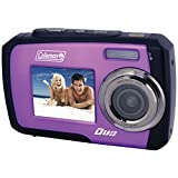 Coleman Duo 2V7WP-P 14 Megapixel Waterproof Digital Camera (Purple)