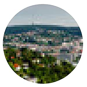alfombrilla de ratón Panorama Stuttgart - ronda - 20cm
