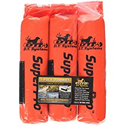 D.T. Systems Cordura Nylon Dog Training Dummy, Blaze Orange, Small, 2-Inch by 9-Inch 3 Pack