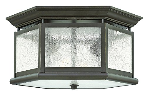 Hinkley 1683OZ Traditional Two Light Flush Mount from Edgewater collection in Bronze/Darkfinish,