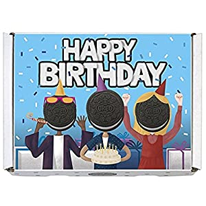 Oreo Gift Boxes - Includes Regular Oreo, Double Stuf and Mini Oreo (Happy Birthday)