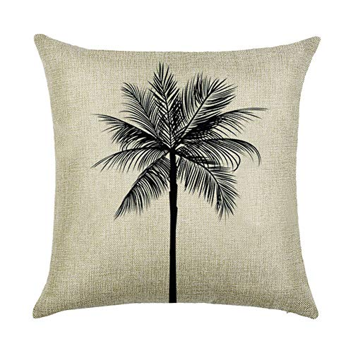(SUNONE11 Black Palm Tree Decorative Throw Pillow Cushion Case Covers Protector 17 x 17 inch Square for KTV Couch Sofa Decor Pillowcase)