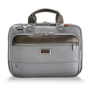 upc 789311000960 product image for Briggs & Riley @work Slim Briefcase, Gray | barcodespider.com