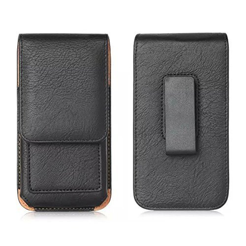 iPhone 7 Plus 6 Plus 6s Plus 8 Plus Case with Belt Clip, Keklle PU Leather Holster Pouch Holder Cover Cell Phone Carrying ID Wallet Case for Apple iPhone 8 Plus 7 Plus with Thin Case On - Black by Keklle