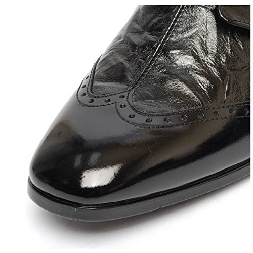 EpicStep Men's Genuine Leather Shoes Stylish Dress Formal Business Casual Oxfords Loafers Black Wingtip sast online KbJqlqgay2