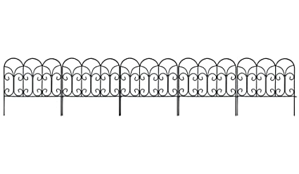 Amagabeli Decorative Garden Fence Coated Metal Outdoor Rustproof 18in X  7.5ft Landscape Wrought Iron Wire