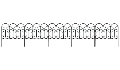 Amazon.com : Amagabeli Decorative Garden Fence Coated Metal Outdoor ...