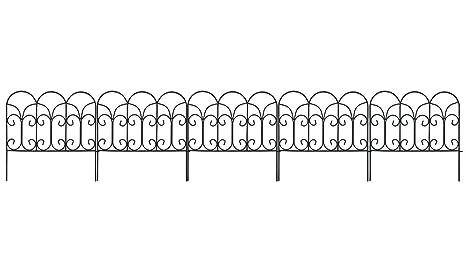 Iron Fence Panels >> Amazon Com Amagabeli Decorative Garden Fence 18in X 7 5ft