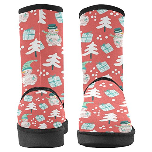 InterestPrint Womens Snow Boots Unique Designed Comfort Winter Boots Multi 8 BHKxwYFsdT