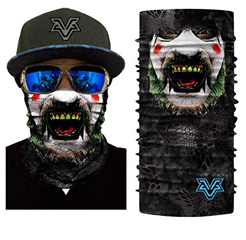 3D Seamless Motorcycle Bandana Scarfs Scarf Mask Tube Neck Face Lower Half Anti-UV Shield Sun Air Soft Windproof Hiking Head Wears -