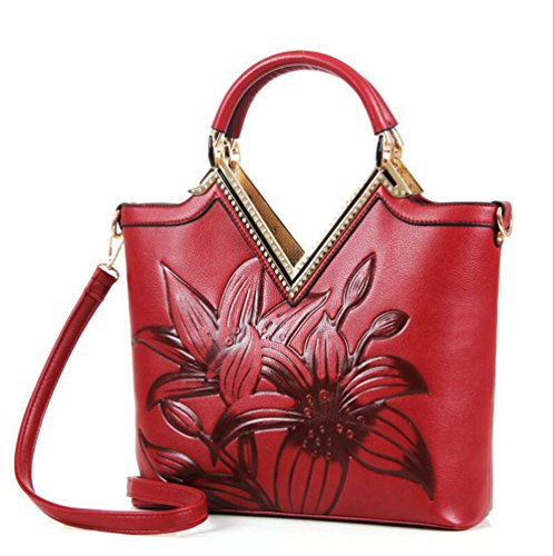 Ufficio Designer Elegante Borsa Donna Shopping Pelle Luxury Stampa Tote  Pinchu Floral Dating Per Office Morbida ... b2d55fddf37