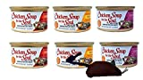 Chicken Soup for the Soul Grain Free Cat Food Souffle 3 Flavor 6 Can Bundle with Toy, 2 each: Chicken, Salmon, and Beef (3 Ounces)