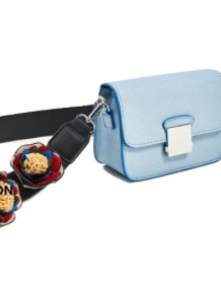 bed4496a34 Zara cross body bag with floral straps blue: Handbags: Amazon.com