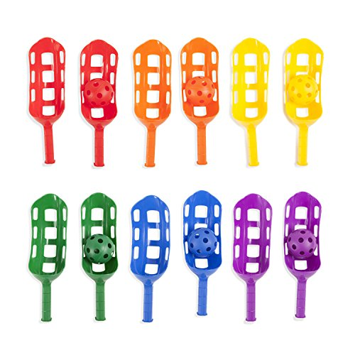 Nice Champion Sports Scoop Ball Set: Classic Outdoor Lawn Party & Kids Game in 6 Assorted Colors