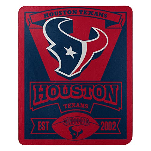 The Northwest Company NFL Houston Texans Marque Printed Fleece Throw, 50-inch by 60-inch, Red