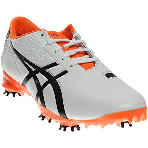 ASICS Men's Gel Ace Pro Light Golf Shoe, White/Black/Flash Orange, 10 M US (Gel Golf)