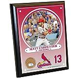 "MLB St. Louis Cardinals Matt Carpenter Plaque with Game Used Dirt from Busch Stadium, 8"" x 10"", Navy"