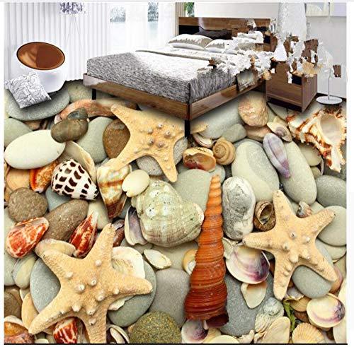 PVC Luxury Air 3D Flooring Waterproof Glued Floor 3D Wallpaper Wallpaper Marble Pared Photo Wallpaper 200X140Cm,Ayzr by Ayzr